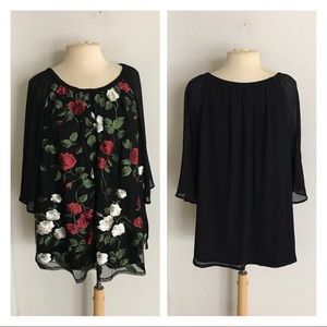 Roz & Ali floral blouse